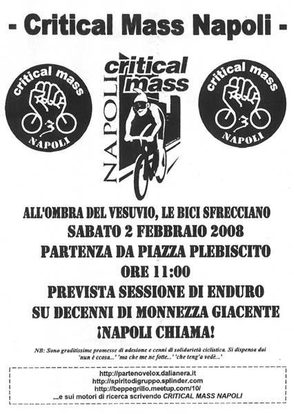 CRITICAL MASS NAPOLI - 02 FEBBRAIO 2008 - 0RE 10:00 Cmnapoli